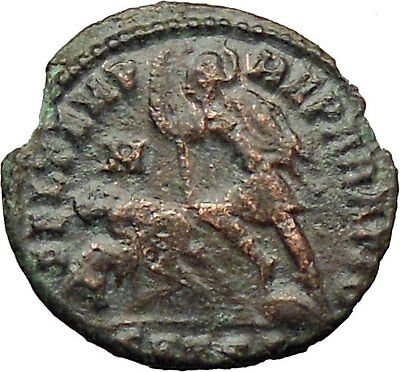 CONSTANTIUS II Constantine the Great  son Ancient Roman Coin Horse man i29801