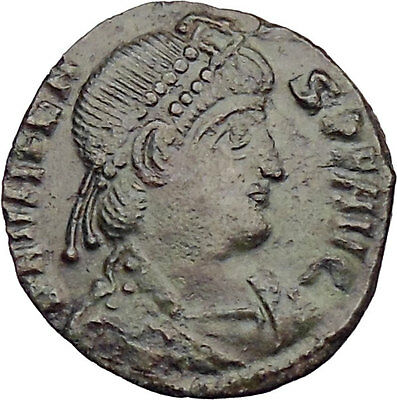 Valens 367AD  Ancient Roman Coin Labarum Chi-Rho Chist monogram  i29984