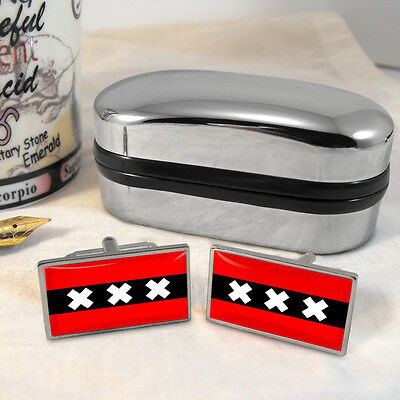 Amsterdam Flag Cufflinks & Box