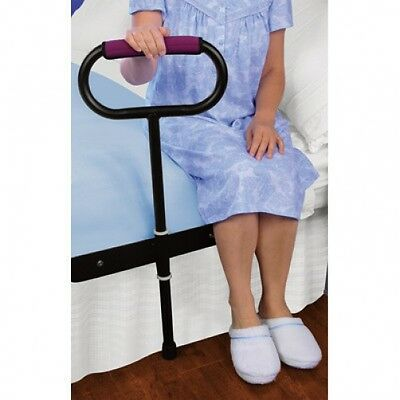 Cushioned Bedside Support Rail Safety 300LBS Handle Bed Pivoting Stand Sit up