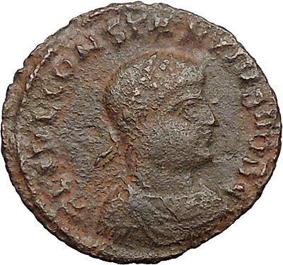 Constantius II Constantine the Great  son Ancient Roman Coin Camp Gate  i31008
