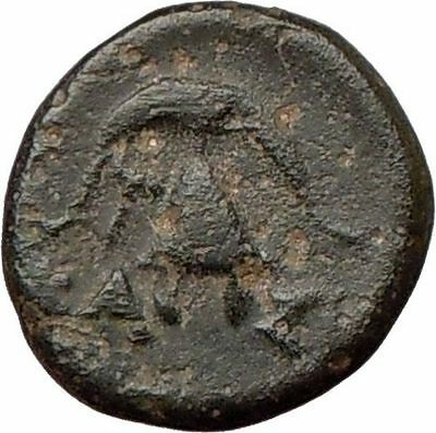 DEMETRIUS I Poliorcetes 294BC Ancient Greek Coin HELMET SHIELD  i22012