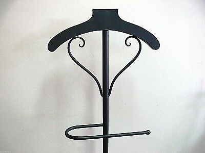 FRENCH STYLE valet  mannequin COAT STAND WROUGHT IRON  NEW jet black
