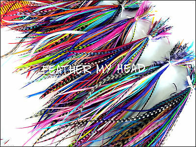 100 Feathers Short  4 -7 In (10-18cm) Long For Hair, Flyting, Crafts, Jewelry
