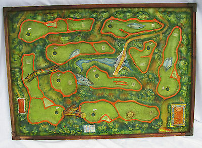 Vintage Sports Colorfull Golf Game Pressed Tin