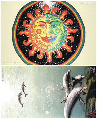 WHOLESALE 100 POSTERS 2x50 Psychedelic Spiritual Visionary Psy Goa Trance Art