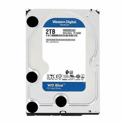 "Western Digital WD BLUE 2TB 3.5"" inch Internal Desktop Hard Drive SATA3 WD20EZAZ"