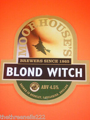 Beer Pump Clip - Moorhouse Blond Witch