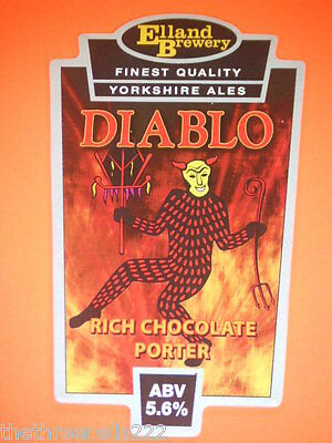 Beer Pump Clip - Diablo Rich Chocolate Porter
