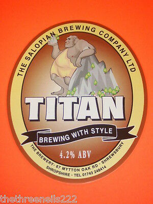 Beer Pump Clip - Salopian Titan