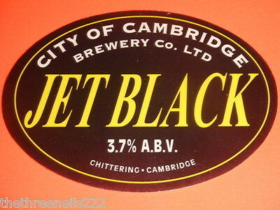 Beer Pump Clip - City Of Cambridge Jet Black