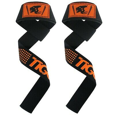 Padded Heavy Weight Lifting Training Straps Gel Gym Hand bar Wrist Support Wraps