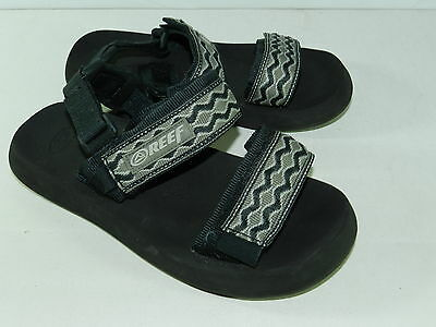 BOYS SANDALS FLIP FLOPS = REEF REEFS = SIZE 6 toddler = two straps fabric