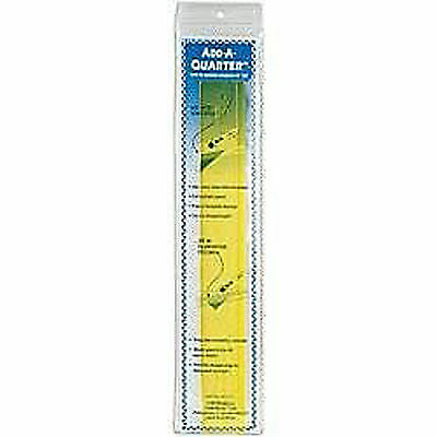 "Add-A-Quarter Ruler-12"" Yellow Great For Patchwork And Quilting! [EQS- AQ12]"