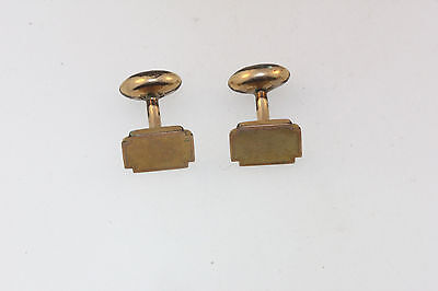 ANTIQUE VICTORIAN ROSE GOLD TONE CUFF LINKS BALL RETURN STYLE unsigned 4.0g