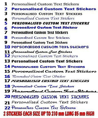 Custom text personalised name lettering funny car van window shop decal sticker