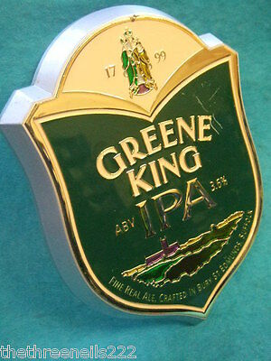 BEER PUMP CLIP - GREENE KING IPA (with clamp fitting)