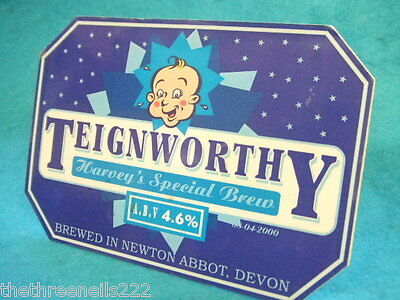 BEER PUMP CLIP - TEIGNWORTHY - HARVEY'S SPECIAL BREW (with clip)