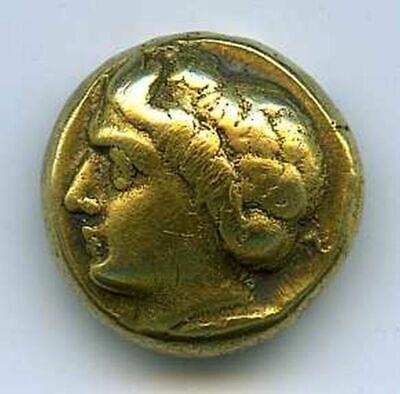 IONIA.Phocaea,480-334 B.C.,Electrum Hecte VF Head of young Pan1 with ivy wreath