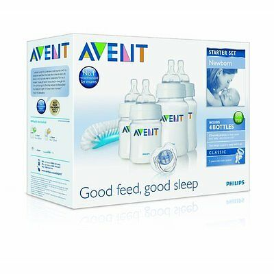 Philips Avent Newborn Classic Starter Set Bottle Kit BPA-Free (SCD271/00)