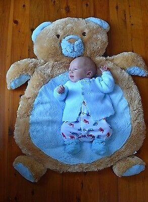 NEW Large Teddy Bear Rug Mat - Newborn  Baby Shower Gift  - Boy or Girl Present