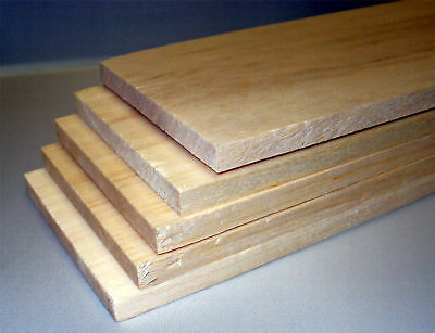 "Balsa Wood Balsa Sheet 36"" (915mm) x 3/8"" x 4"" Pack of 5"