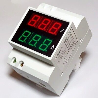 Digital Voltmeter Ammeter AMP Volt Meter Panel + Current Transformer