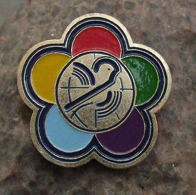 1985 World Youth Festival Democratic Federation WFDY Russia Student Pin Badge