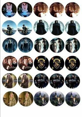 30 x HARRY POTTER MIXED IMAGES EDIBLE CUPCAKE TOPPERS 109