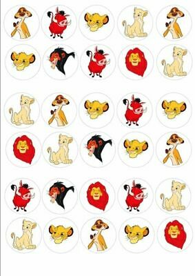 30 x LION KING MIXED IMAGES EDIBLE CUPCAKE TOPPERS 112