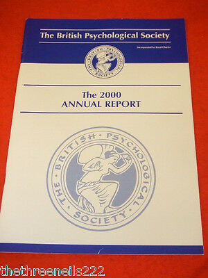 The British Psychological Society Annual Report 2000