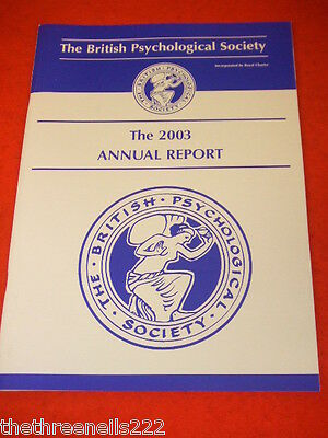 The British Psychological Society Annual Report 2003