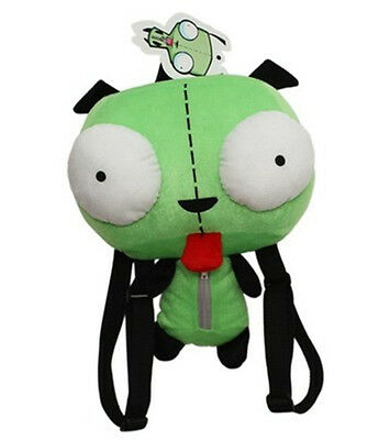 Green Alien Invader Zim Gir Stuffed Plush Backpack Bag 14 inch New with Tag USA