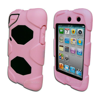 Pink Tough Protective Heavy Duty Case for iPod Touch 4 4th Gen 4G Cover