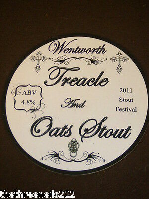 Beer Pump Clip - Wentworth Treacle And Oats Stout