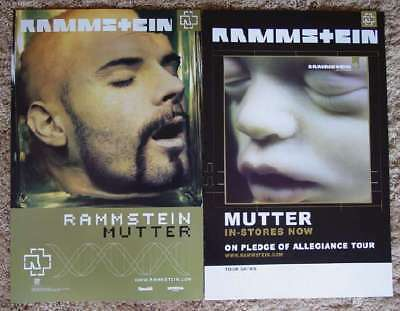 RAMMSTEIN Mutter Two Sided PROMO Poster TILL LINDEMANN Richard Z. Kruspe RARE!