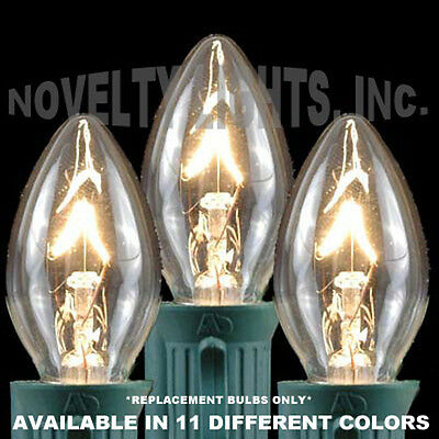C7 Outdoor Candelabra Christmas Party Replacement Bulbs - 25 Pack