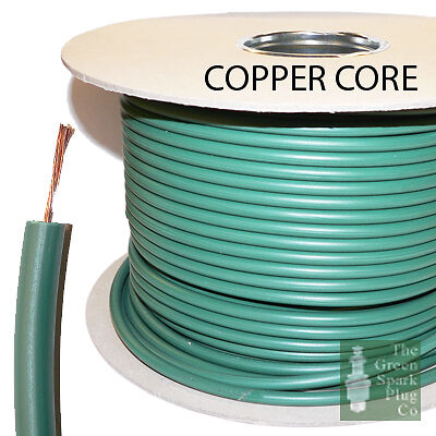 7mm Spark Plug High Tension Ignition Lead Cable Wire Copper Core PVC Green
