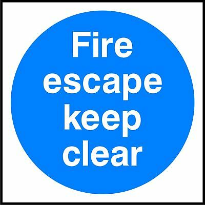Fire Escape Keep Clear 6 X 150mm sticker safety emergency sign warning decal