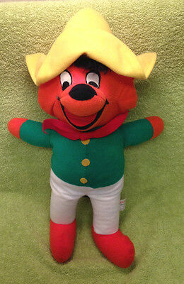 Vintage 1971 Warner Bros Might Star Speedy Speedy Gonzales Plush  16""