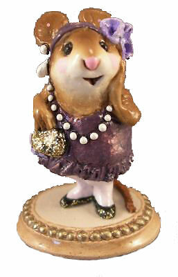 ZELDA by Wee Forest Folk, WFF# M-171, PURPLE, Mouse Expo 2000 Exclusive