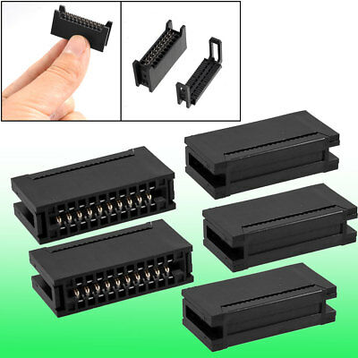 5 Pcs 20 Pin Card Edge Female IDC Connector for Flat Ribbon Cable