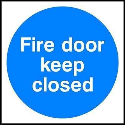 Fire Door Keep Closed X 6 sticker decal safety sign warning self adhesive