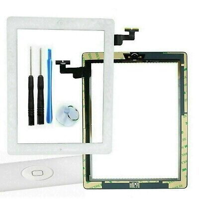 iPad 3 WHITE Touch Screen Digitizer Glass + Home Button + Adhesive replacement