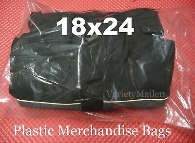 """20 EXTRA LARGE 18""""x 24"""" CLEAR FLAT PLASTIC MERCHANDISE / STORAGE BAGS 1.5MIL"""