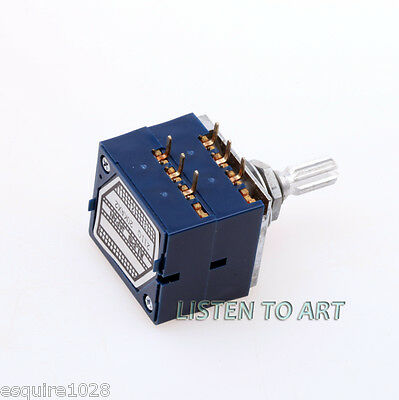 1pc Japan Alps 50KAx2 LOG type Volume Potentiometer 50K RK27 Knurled