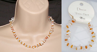 NEW 'DISCO' NECKLACE AND BRACELET TWIN SET (CA3688)