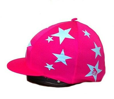 Custom Hat Silk Cover Printed Equestrian Stars, Hearts, Spots Cross Country