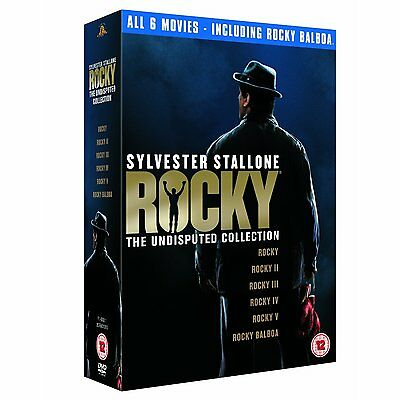 ROCKY THE UNDISPUTED COLLECTION 1-6 SEALED/NEW w/Rocky Balboa Saga 5039036036153