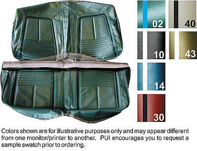 1967 CHEVY CAMARO COUPE and CONVERTIBLE DELUXE REAR FOLDING SEAT COVER 6  COLORS